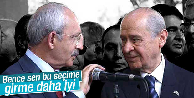 Kılıçdaroğlu'ndan Bahçeli'ye: Seçime girme o zaman