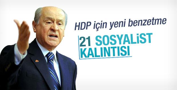 Devlet Bahçeli'den HDP'ye oy verenlere yeni benzetme