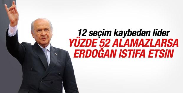 Devlet Bahçeli'den Erdoğan'a istifa çağrısı