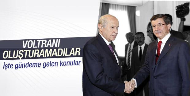 Davutoğlu - Bahçeli görüşmesinden koalisyon çıkmadı