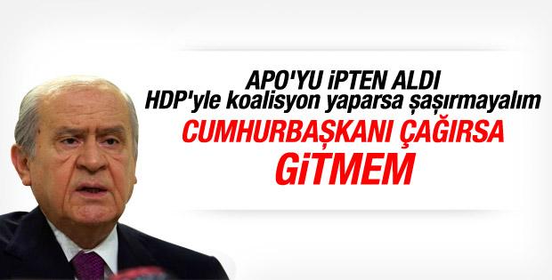Bahçeli: Cumhurbaşkanı Erdoğan'la görüşmem