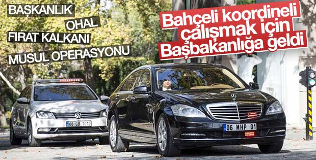 MHP Genel Başkanı Bahçeli Çankaya Köşkü'nde