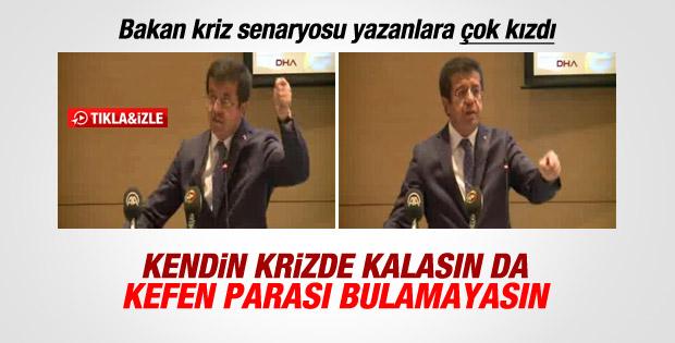 Bakan Nihat Zeybekçi kriz senaryosu yazanlara kızdı