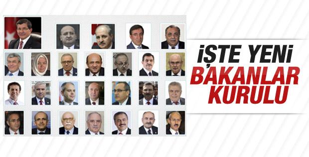 İşte seçim hükümetinin bakanları