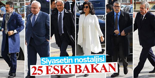 Başbakan Yıldırım'la buluşan 25 eski bakan