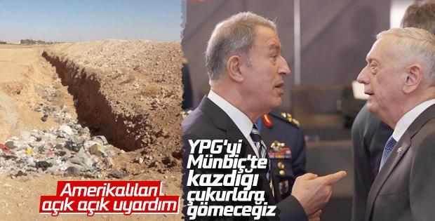 Türkiye, Münbiç konusunda ABD'yi uyardı