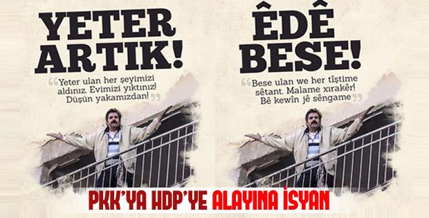 Diyarbakır'da vatandaşın PKK ve HDP'ye isyanı