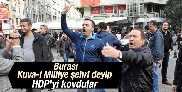 Balıkesir'de HDP'liler ile vatandaşlar arasında arbede
