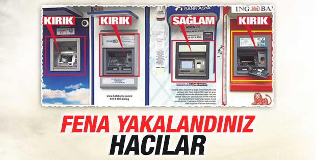 ATM'leri parçalayanlar Bank Asya'ya dokunmadı