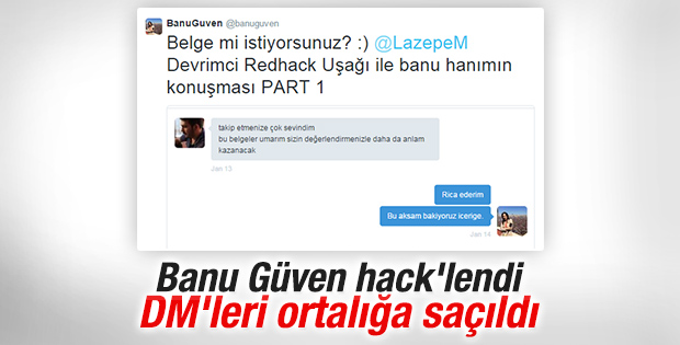 Banu Güven'in Twitter hesabı hack'lendi