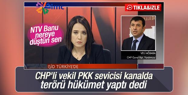 CHP'li vekil PKK sevicisi kanalda hükümeti suçladı