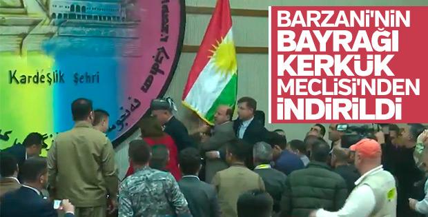 Irak Ordusu'ndan il meclisinde bayrak değişimi