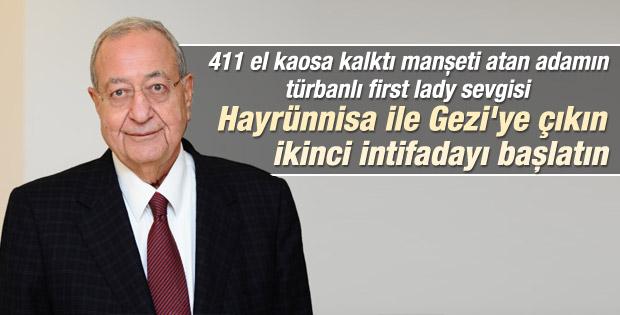 Barlas: Özkök Hayrünnisa Gül ile intifada başlatsın