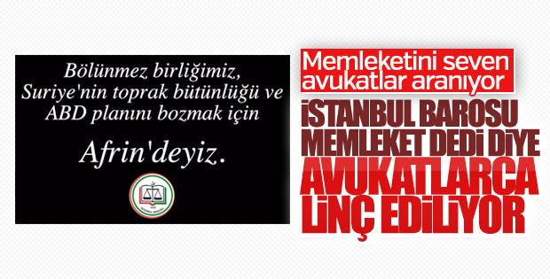 İstanbul Barosu'nun TSK'ya desteğinden rahatsız olan avukatlar