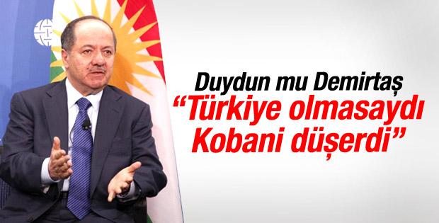 Barzani: Türkiye olmasaydı Kobani düşerdi