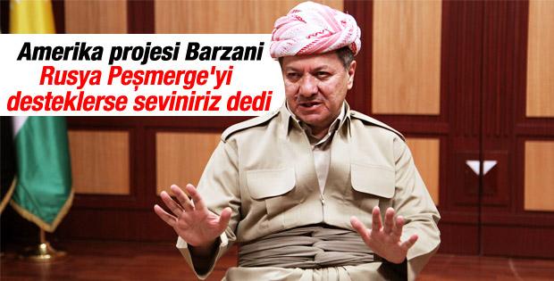 Barzani Rusya'dan silah desteği istedi