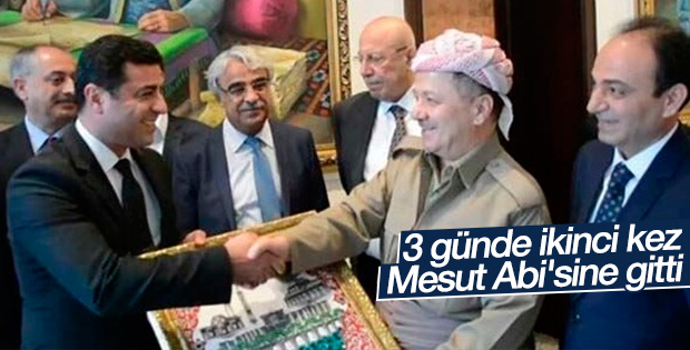 Demirtaş 3 gün içinde ikinci kez Barzani ile görüşüyor