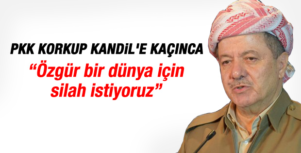 Barzani: Özgür dünya için silah istiyoruz