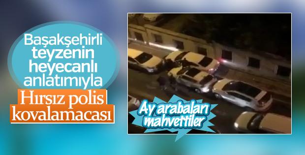 Oto hırsızları polisten kaçarken ortalığı birbirine kattı