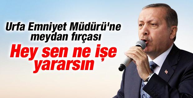 Başbakan Erdoğan Urfa Emniyet Müdürü'nü fırçaladı