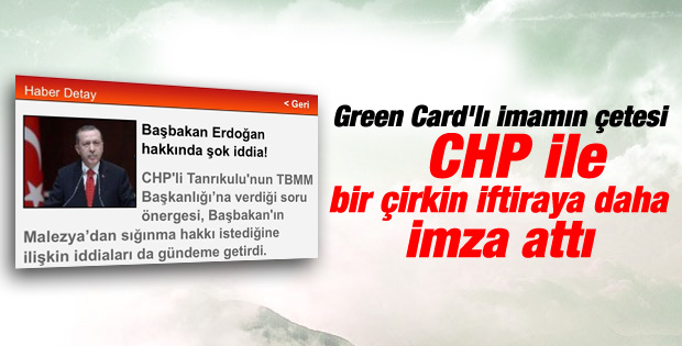 Başbakan Erdoğan'a çirkin iftira