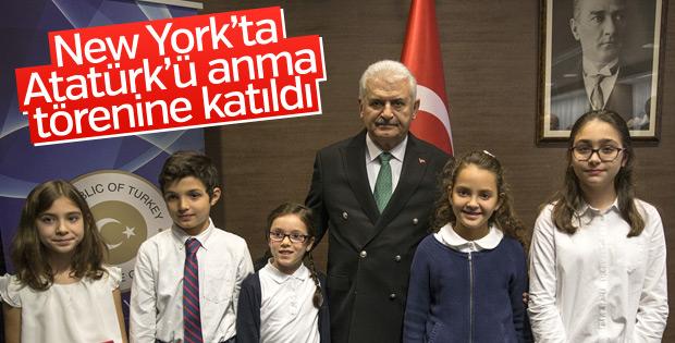 Başbakan ABD'de Atatürk anma törenine katıldı