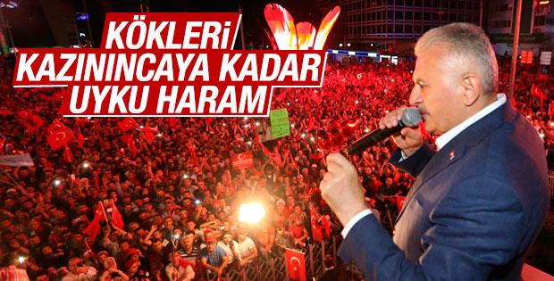Başbakan Yıldırım Kızılay Meydanı'nda halka hitap etti