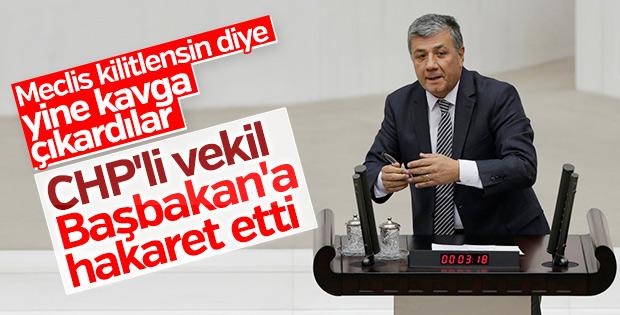 CHP'li Mustafa Balbay Başbakan Yıldırım'a hakaret etti