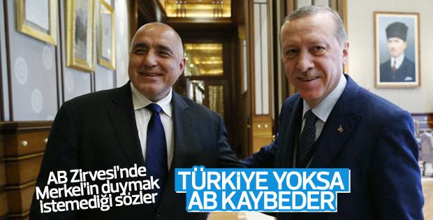 Bulgaristan Başbakanı Borisov'dan Türkiye'ye açık destek