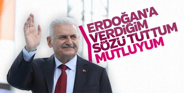 Başbakan Yıldırım, Erdoğan'a verdiği sözü tuttu