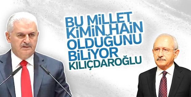 Başbakan Yıldırım'dan Kılıçdaroğlu'na ihanet yanıtı
