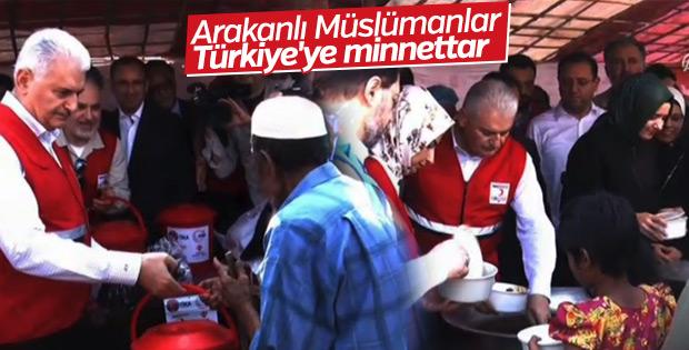 Başbakan Yıldırım Arakanlı Müslümanların kampında