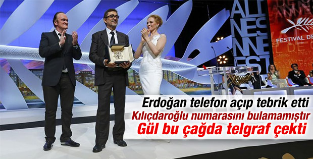 Başbakan'dan Nuri Bilge Ceylan'a tebrik