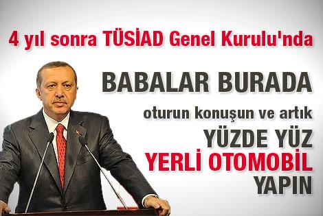Başbakan'ın TÜSİAD Genel Kurulu'ndaki konuşması