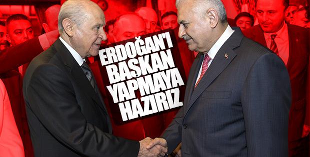 Başbakan Yıldırım ile Bahçeli arasında seçim sohbeti