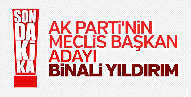 AK Parti'nin Meclis Başkan adayı Binali Yıldırım