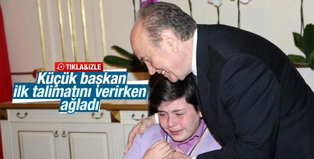 Kadir Topbaş'ın koltuğuna geçen küçük başkan duygulandırdı