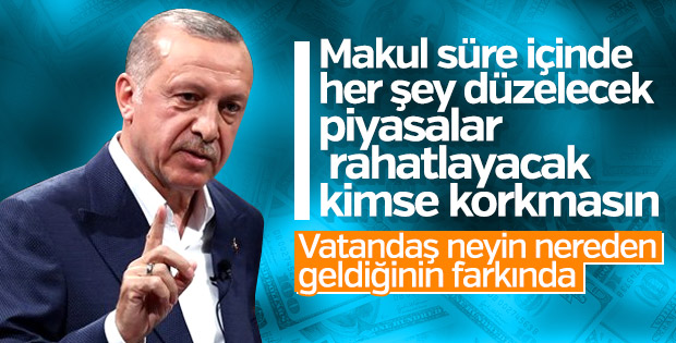 Başkan Erdoğan piyasalara güven verdi
