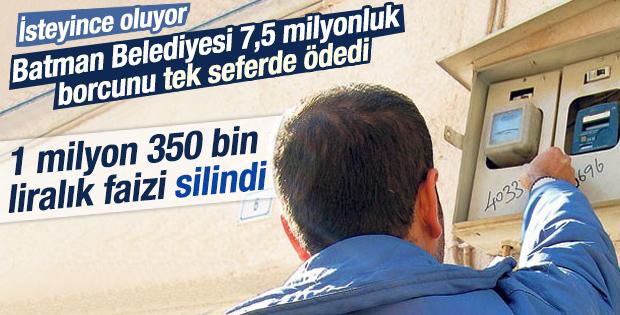 Batman Belediyesi DEDAŞ'a elektrik borcunu ödedi