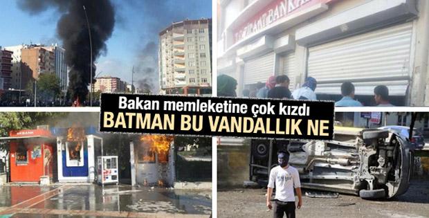 Mehmet Şimşek Batman'daki Kobani eylemine çok kızdı