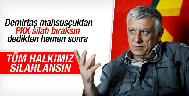 Cemil Bayık: Halkımız silahlanmalı, tüneller kazmalı