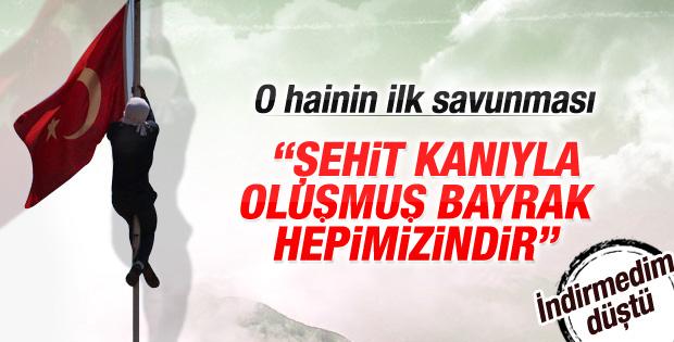 Diyarbakır'da Türk bayrağını indiren sanık yargılanıyor