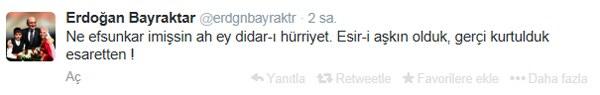 Erdoğan Bayraktar'dan anlamlı tweet