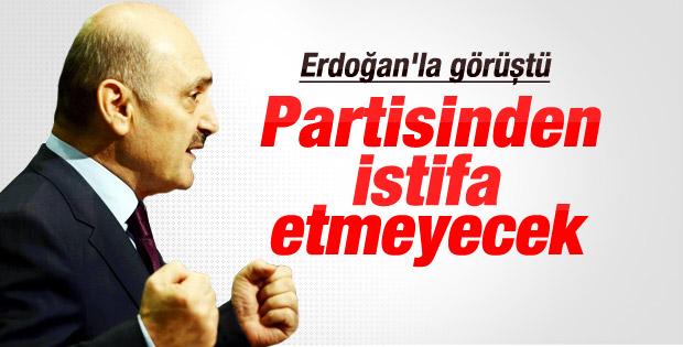 Erdoğan Bayraktar istifadan vazgeçti