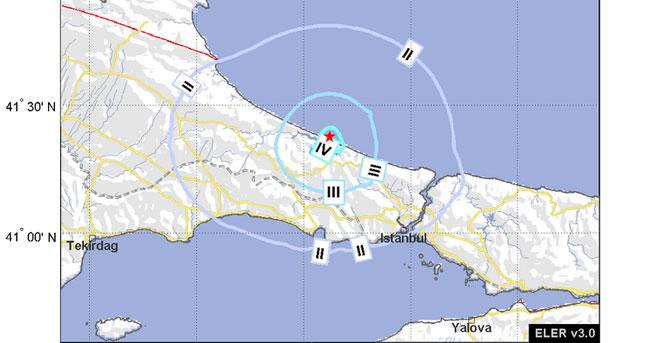 İstanbul'da 3.8 büyüklüğünde deprem