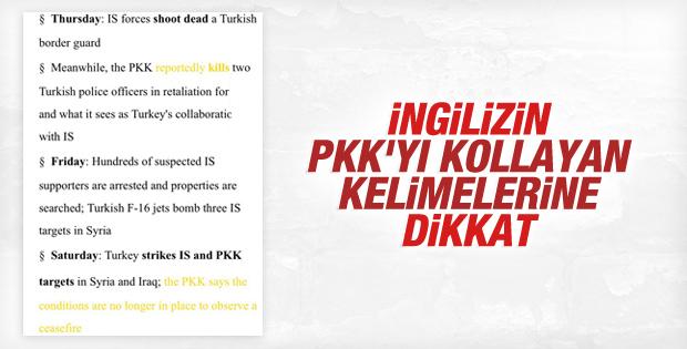 BBC'nin PKK'yı aklamak için kullandığı haber dili