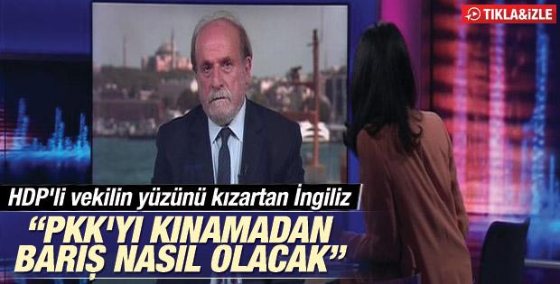 PKK terörü sorulunca yüzü kızaran HDP'li