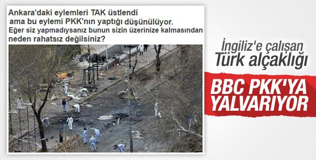 BBC PKK'dan üstlendiği saldırıyı düzeltmesini istedi