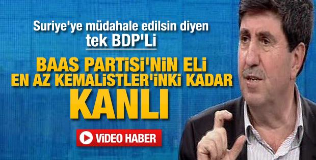 BDP'li Altan Tan'dan Suriye çıkışı
