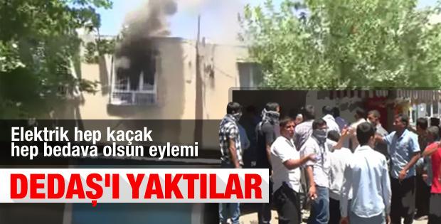 Şanlıurfa'da çiftçiler DEDAŞ binasını yaktı